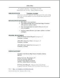 Veterinary Technician Resume As Resume Example Vet Tech Resume