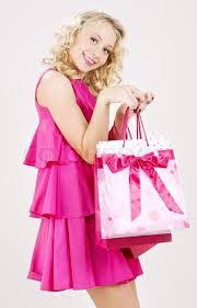 Blonde girl in pink