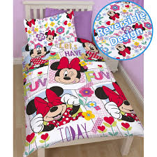 Minnie Mouse Bedroom Accessories Disney Mickey Or Minnie Mouse Single Duvet Cover Sets Kids Bedroom