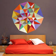 Faceted Wall Decal ($139): Add some colorful bling to your room with this  giant gem. These removable wall decals are fabric based and can be reused  many ...