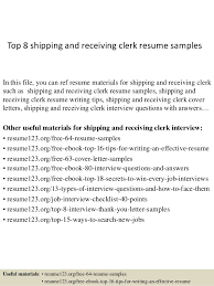 shipping and receiving resume. Top 8 shipping and receiving clerk resume samples