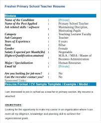 Cv Primary School Teacher School Teacher Cv Format In Pakistan Resume Word Letsdeliver Co
