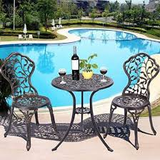 giantex outdoor patio furniture round table and chairs