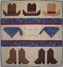 boot hats quilt - Google Search | Quilts ~ Figural ~ Applique ... & Your little cowboy is going to love being lassoed tightly inside this cute  western-themed quilt! Adamdwight.com