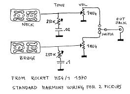harmony wiring diagram simple wiring diagram harmony standard wiring for 2 pickups guitars guitar schematic harmony bobkat wiring diagram harmony standard wiring