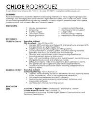 Executive Assistant Administration Office Support Resume Example