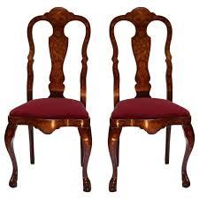 Pair of Queen Anne Style Chairs For Sale at 1stdibs
