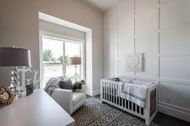 chic nursery with board and batten wall