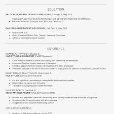 Resume Hair Stylist Hair Stylist Cover Letter And Resume Examples