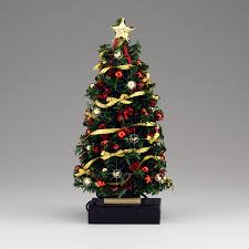 Lighted Red/Gold Bow Christmas Tree click to enlarge