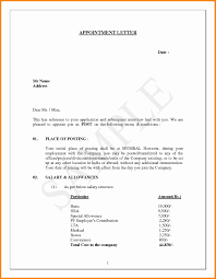 Job Appointment Letter Legal Format Of Appointment Letter Fresh Job Appointment Letter 1