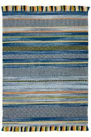 kilim stripe blue