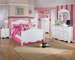 Cool Pink Children Bedroom Sets With Wood Floor And Pink Painted Wall  Interior White Bedroom Furniture