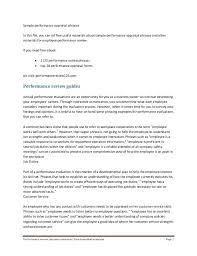 Sample Objectives For Performance Appraisal Board Evaluation Form ...