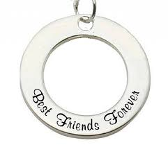 kaya jewellery sterling silver pendant best friends forever