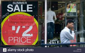 Shops On Aberystwyth High Street Awash With Sale Signs As The