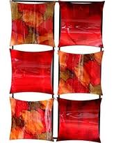 heather ann creations 4 square panel decorative metal wall art 16 2 x 16 2  on red and brown metal wall art with summer savings are upon us get this deal on heather ann creations 4