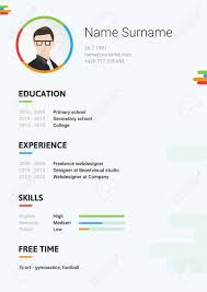 Vector Dark Cv Resume Curriculum Viate Template Modern And