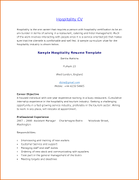 Hospitality Objective Resume Samples Career Objective Resume Hospitality Industry Therpgmovie 40