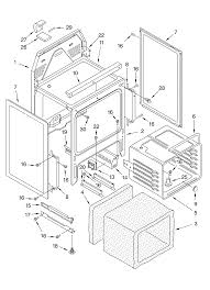 ykerc507hs4 free standing electric range oven chassis parts diagram