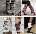 Вязанные модные гетры