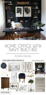 designs for home office. Postbox Designs Interior E-Design: Home Office Design With Navy Shelves, Study Decor For