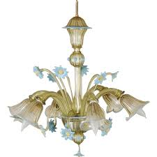 vintage murano chandelier vintage blown italian venetian glass flower chandelier by cam module 14