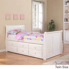 captains bed with trundle. Perfect Captains Donco Kids White Sleigh Captains Bed With Trundle Intended With L