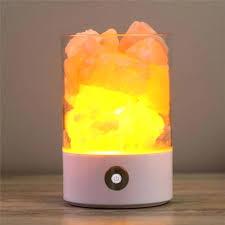 diy salt lamp colorful salt lamp natural rechargeable portable design touch brightness wedding party home bedroom