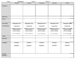 Middle School Lesson Plan Templates High School Middle School Lesson Plan Template