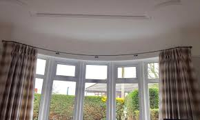 rods for bay windows bendable magnetic rod rhafrozepcom how to hang eyelet curtains on a window