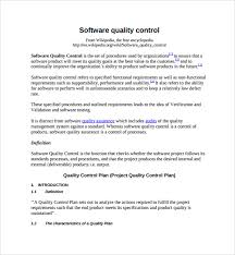 Quality Assurance Plan Example Sample Quality Control Plan Template 8 Free Documents In Pdf Word