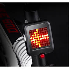 <b>Steering brake</b> tail light <b>fully intelligent</b> 64 LED USB bike riding ...