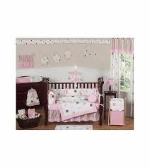 sweet jojo designs mod dots pink 9 piece crib bedding set 14 jpg