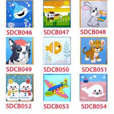 Chỉ 69,000đ - Tranh sơn dầu số hóa tranh tô màu cho bé tự tô có khung -  20x20cm nhiều mẫu SD6