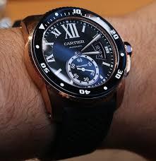 cartier calibre gmt series leather strap waterproof replica cartier calibre diver watch 13