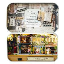 diy miniature house kit toy box theater old times trilogy happy corner style