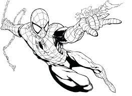 Spiderman Coloring Pages Cheapflowersinfo