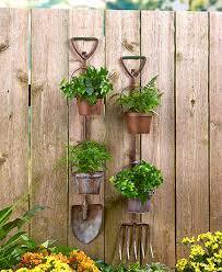 garden planters. Rustic Garden Tool Planters
