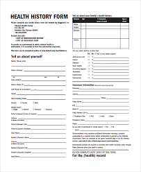 health history forms sample health history template 9 free documents download in pdf word