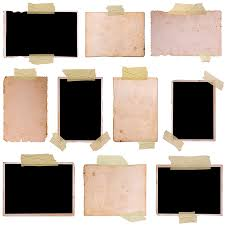 beige and black papers collage