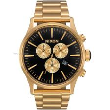 "nixon watches uk men s ladies watch shop comâ""¢ mens nixon the sentry chrono chronograph watch a386 510"
