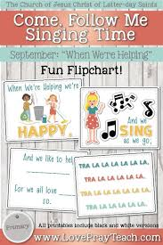 List Of Primari Chorister Flip Charts Songs Ideas And