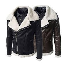 plusee faux suede jacket for men brown winter leather jacket pocket men 2018 autum black warm