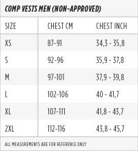 Jobe Vest Size Chart Jobe Vest Size Chart Jobe Progress Segmented Vest 2017