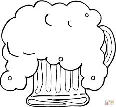 Fris Bier Voor Oktoberfeest Kleurplaat Gratis Kleurplaten Printen