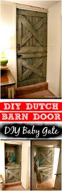 Dutch Barn Door Plans 30 Best Diy Baby Gate Tutorials On Cheap Budget Diy Crafts