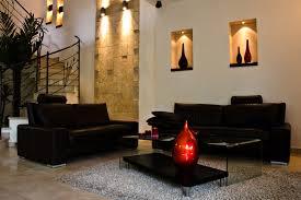 black leather living room furniture. Black Furniture In Living Room With Wall Alcoves Leather