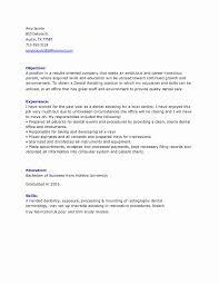 Dentist Resume Dentist Resume Sample Best Of Dentist Resume Template Sample 100