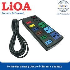 Ổ cắm điện đa năng LiOA 10 ổ cắm 3m x 2 4D6S32 (Đen) - Hàng Chính Hãng -  mintmart.vn